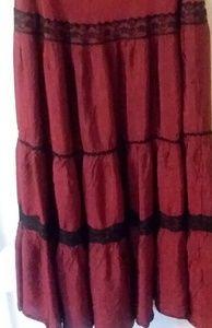 Vintage Ruffle Skirt Victorian Steampunk